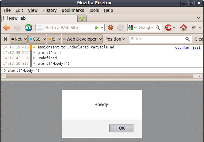 Firefox's Web Console
