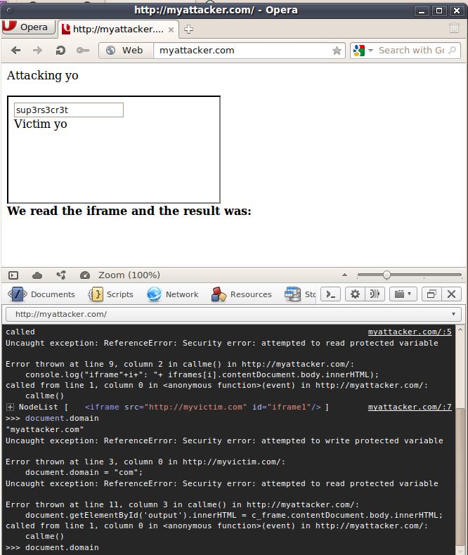 Opera, as expected, blocks the TLD domain set