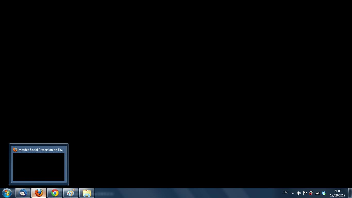 """First screenshot using """"Print Screen"""""""