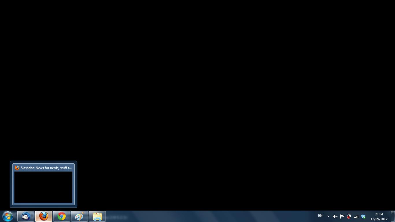 Print-Screening Slashdot doesn't work while my McAfee tab is open