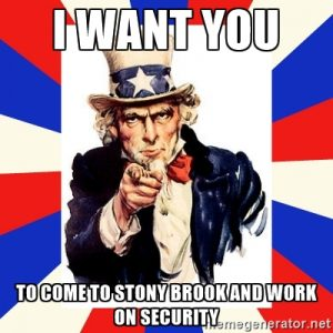 I want you to work in security